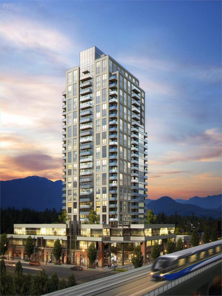 Evergreen condo tower in Coquitlam
