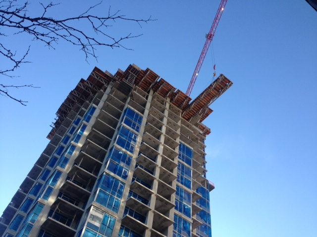 Viceroy construction in New Westminster