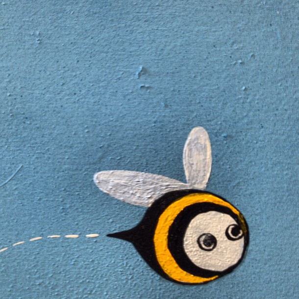Our mascot, Leonard the Bee, drawn by superstar Uber5000.