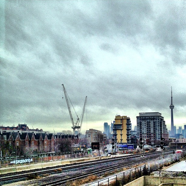 The Toronto skyline from Liberty Village.