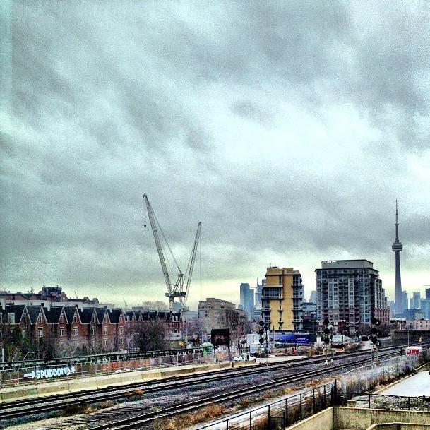 The Toronto skyline from Liberty Village.