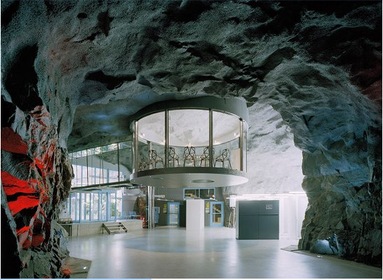 Stockholm data centre cave