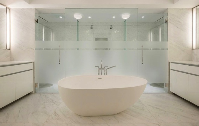 737 Park Avenue bathroom frosted
