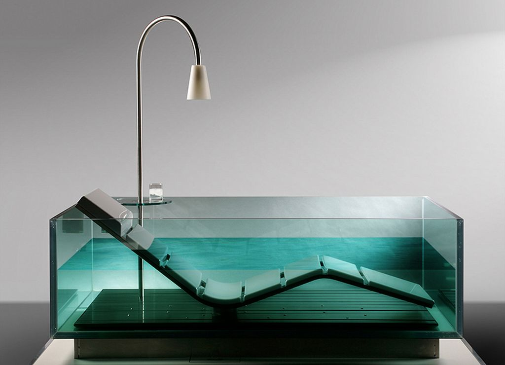 Bizarre Bathing Top Uniquely Designed Bathtubs - Hammock shaped bath tub