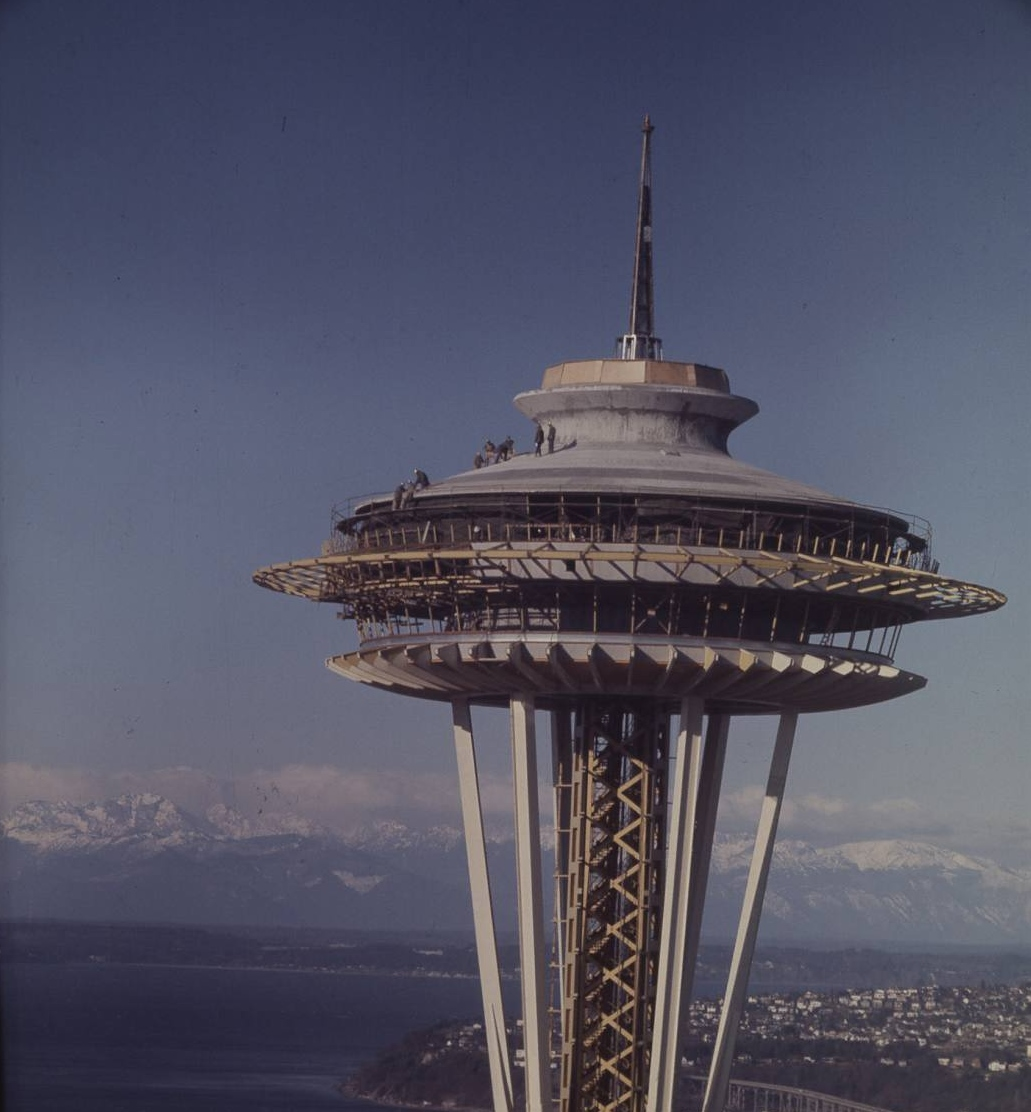 When they were young iconic buildings under construction for Seattle builders