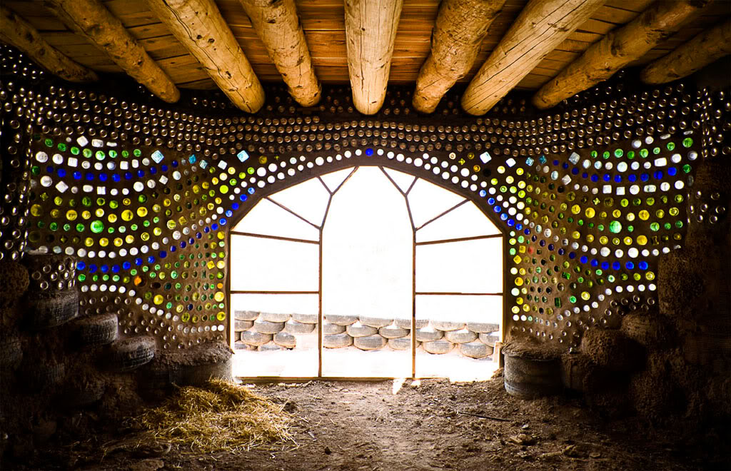 Earthship Construction Materials : Strange construction top unconventional building materials