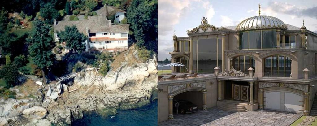 West Vancouver teardown fake mansion
