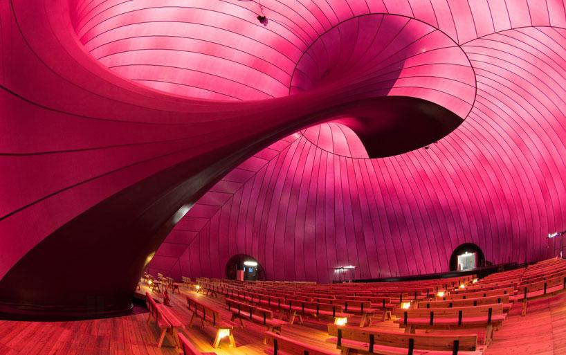 inflatable concert hall arc nova interior