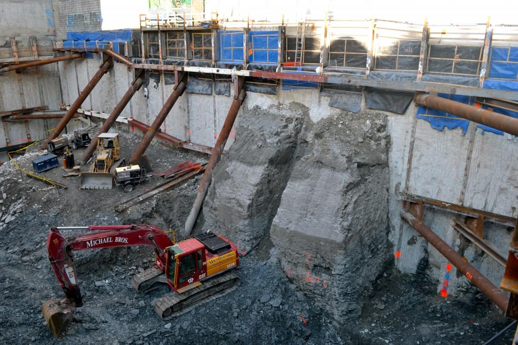 the bond construction site