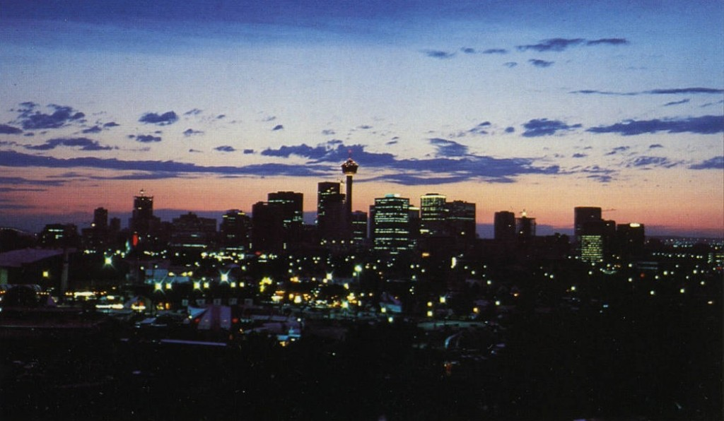 Calgary skyline historic