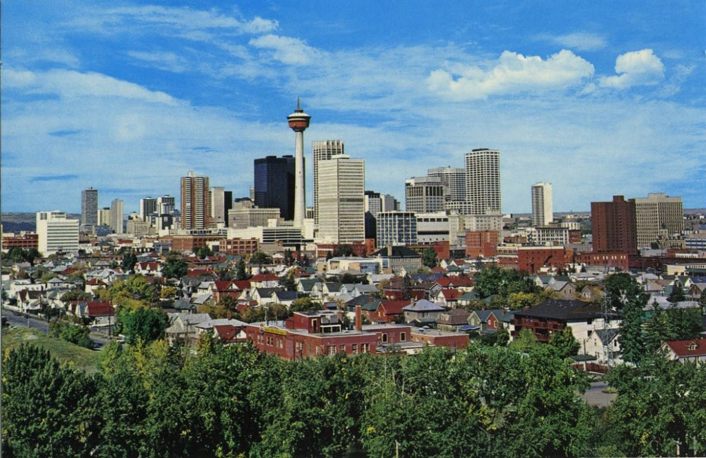Calgary skyline historic 1990