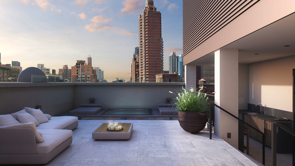 Huys Penthouse 17B terrace