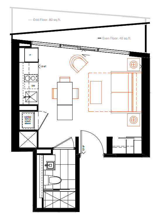 Micro living see the smallest new condo suites on the for Apartment floor plans toronto