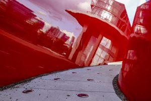 Approaching Red Public Art
