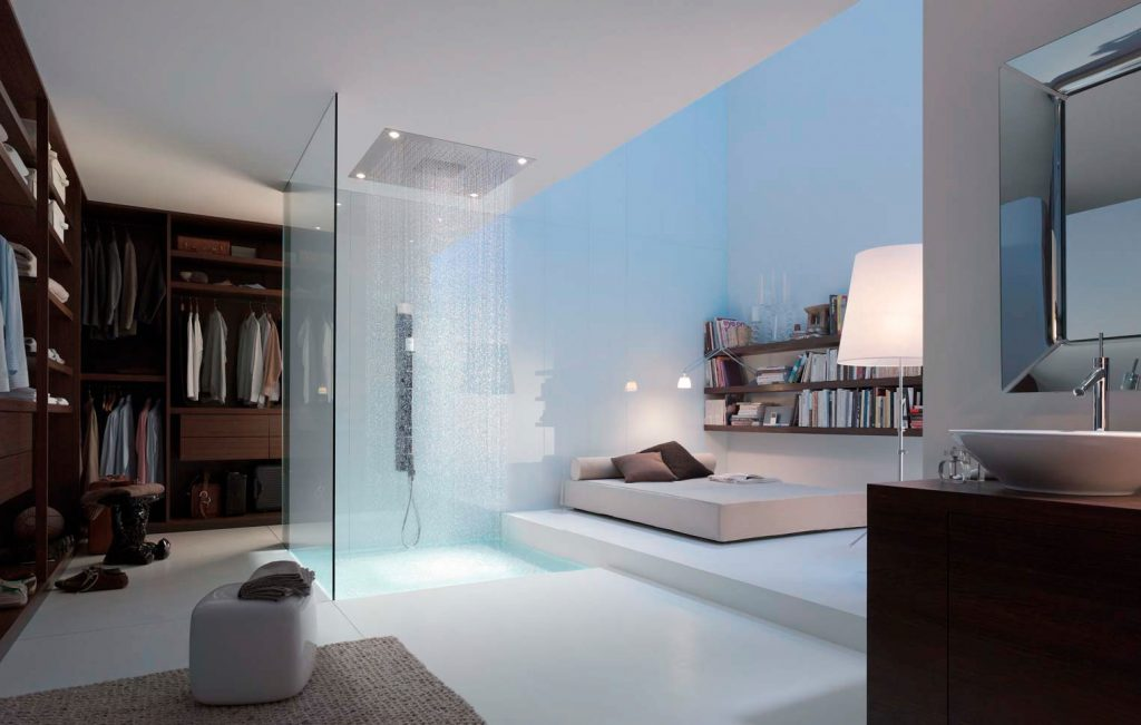 shower bedroom. 17 open living spaces that blur the line between bedroom and bathroom