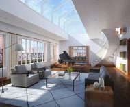 737 Park Avenue penthouse living room