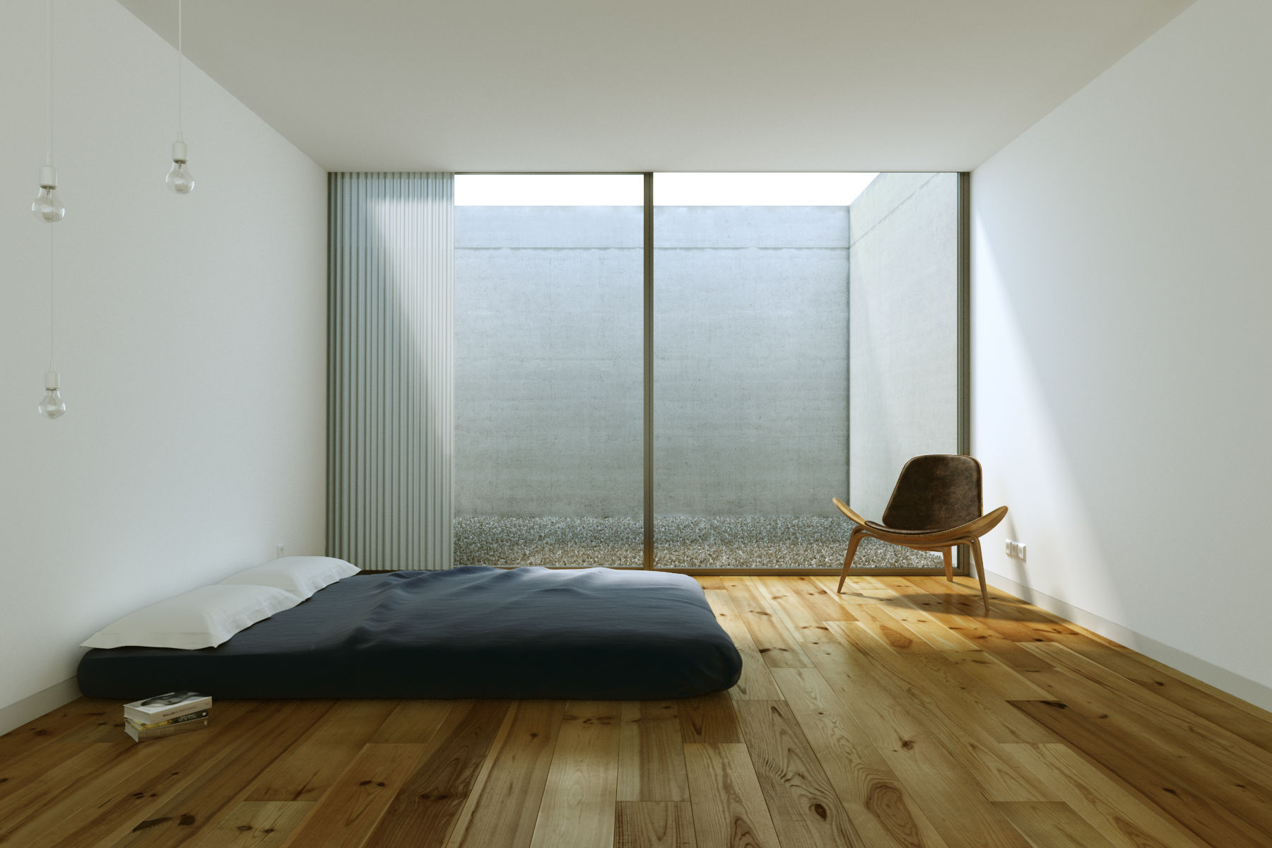 25 beautifully simple rooms that take minimalism to the for Minimalist bed design