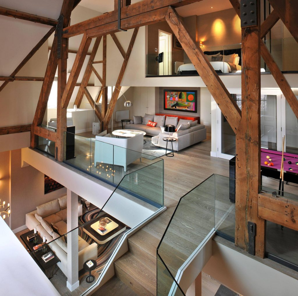 Open your heart to these 24 opulent open concept rooms for Open concept loft