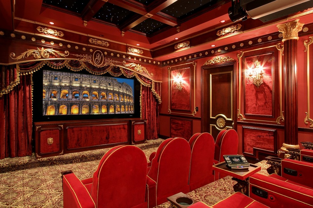 16 blockbuster home theaters that will blow you away for Classic luxury homes