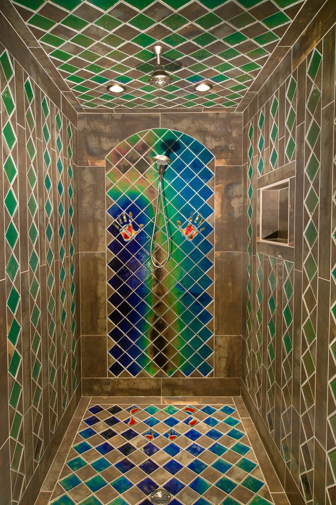 shower heat sensitive tiles