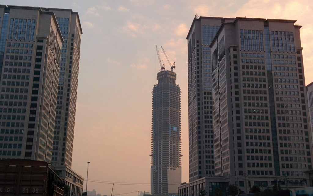 Wuhan Center construction
