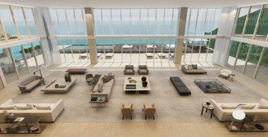 the bath club estates villa living room