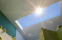 artificial skylight mimics daylight