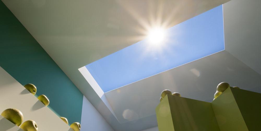 artificial skylight mimics daylight