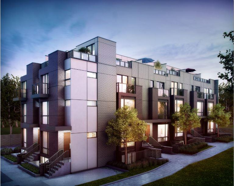 Ultra modern connexion townhomes coming to etobicoke for Contemporary townhouse plans