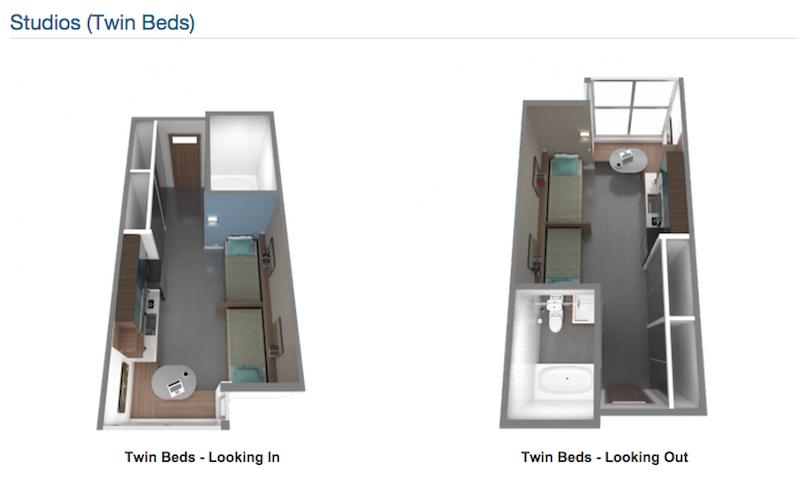 Panoramic Studios Twin Beds