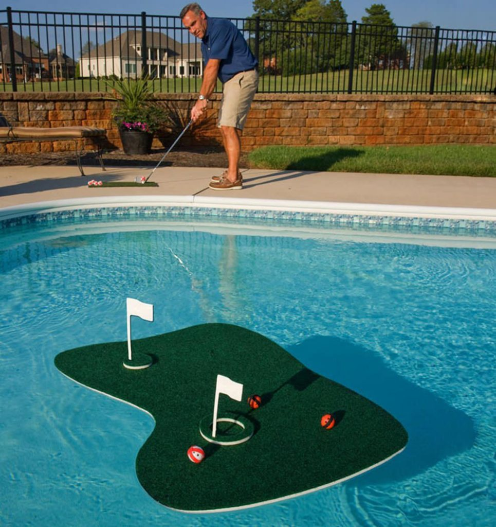floating mini golf