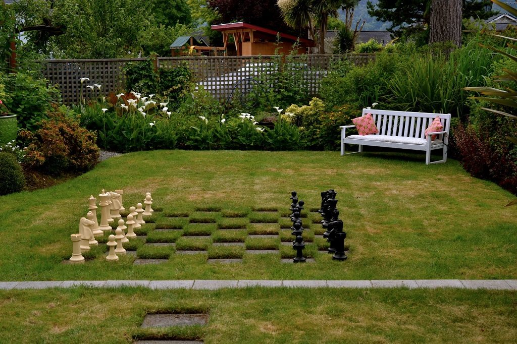 giant chessboard backyard