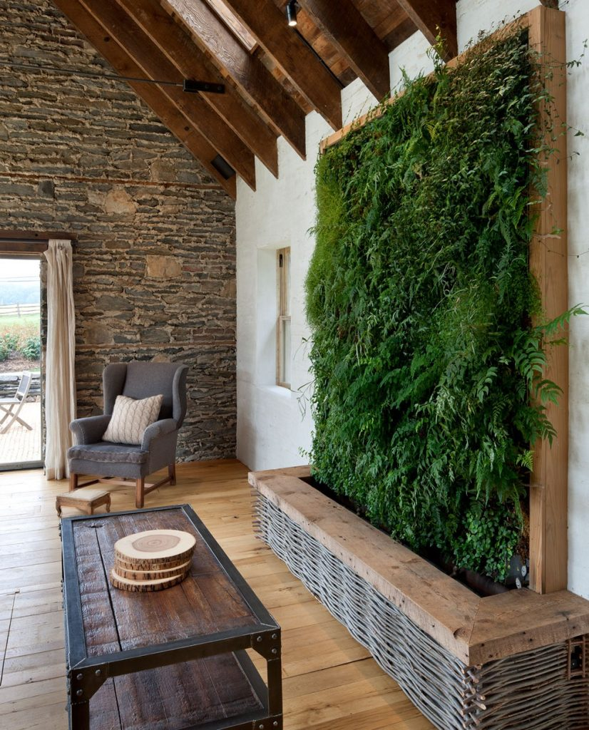 green wall surreal home design-1