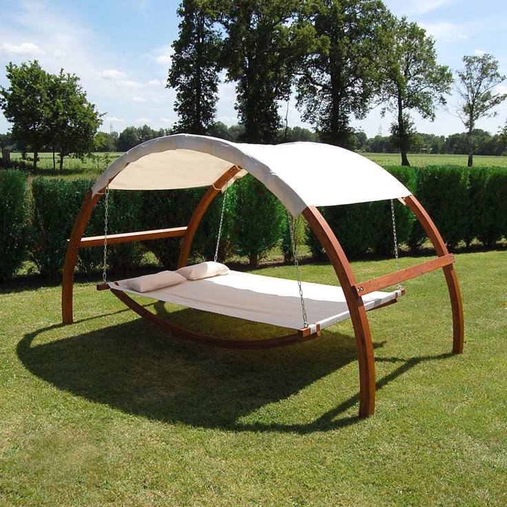 swing hammock bed backyard