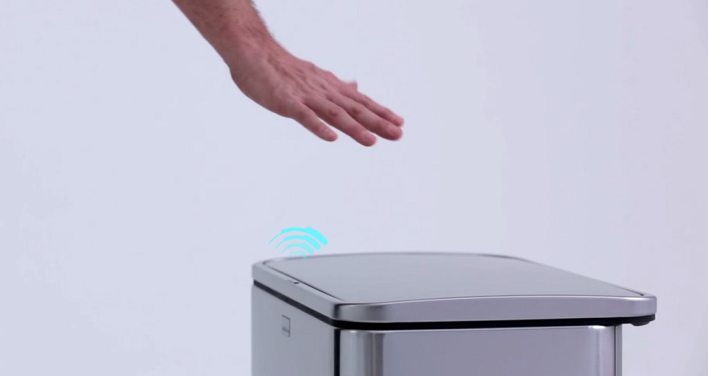 touch-less trash can futuristic kitchen gadgets