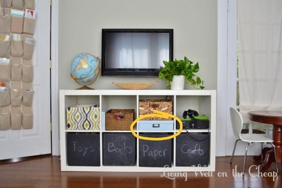 21 insanely clever ways to hide eyesores in your home for Hiding a tv in the living room