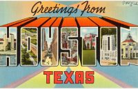 houston texas postcard