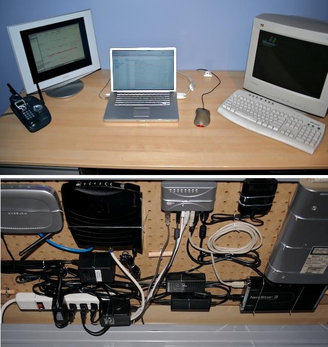 pegboard computer desk DIY