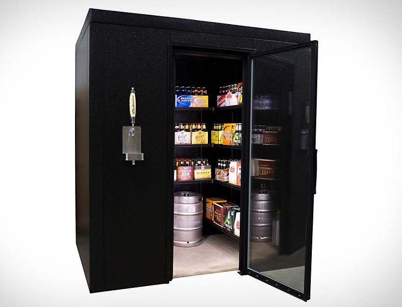 walk-in beer fridge