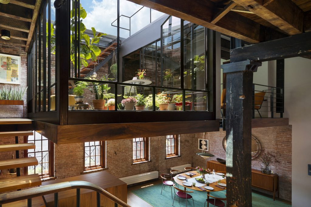 And this warehouse loft conversion in Tribeca