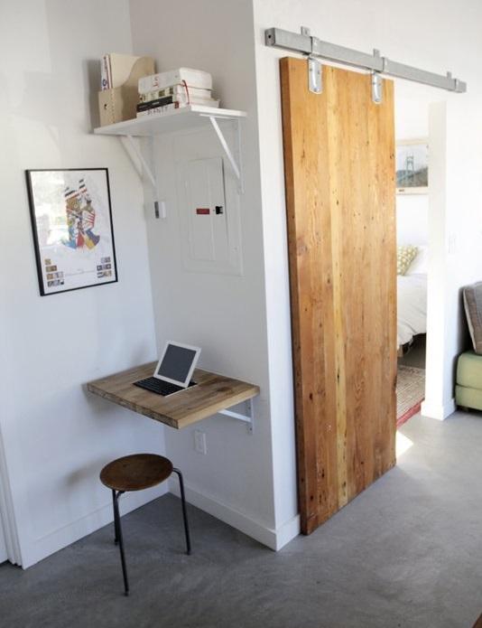 tiny apartment sliding doors