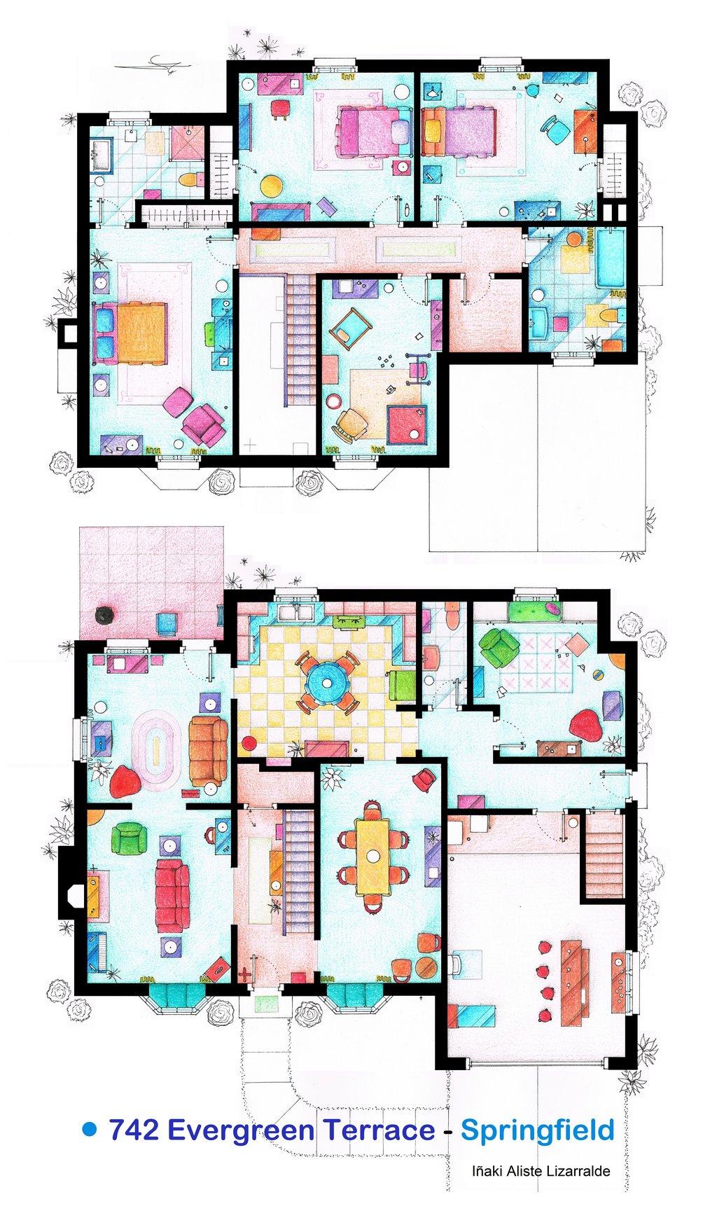 The Simpsons floorplan