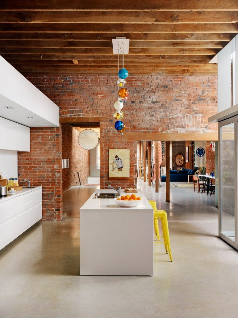 exposed brick warehouse