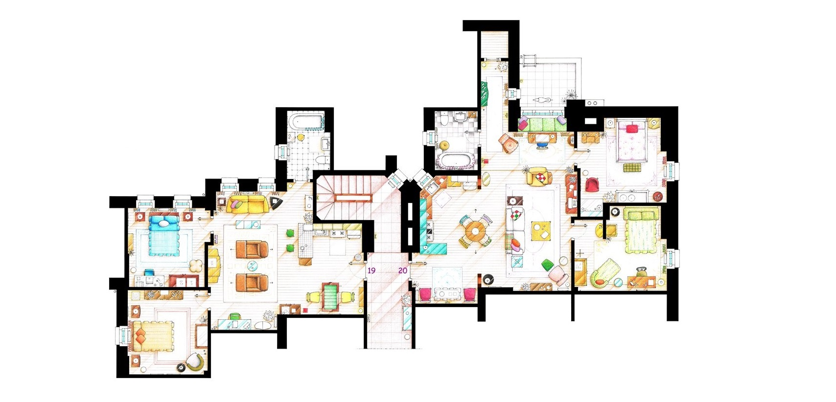 Tv show apartment floor plans best free home design for Gossip girl apartment floor plans