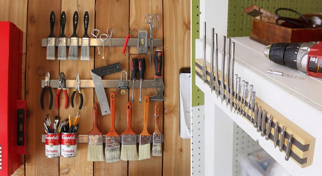 magnetic strip garage hack