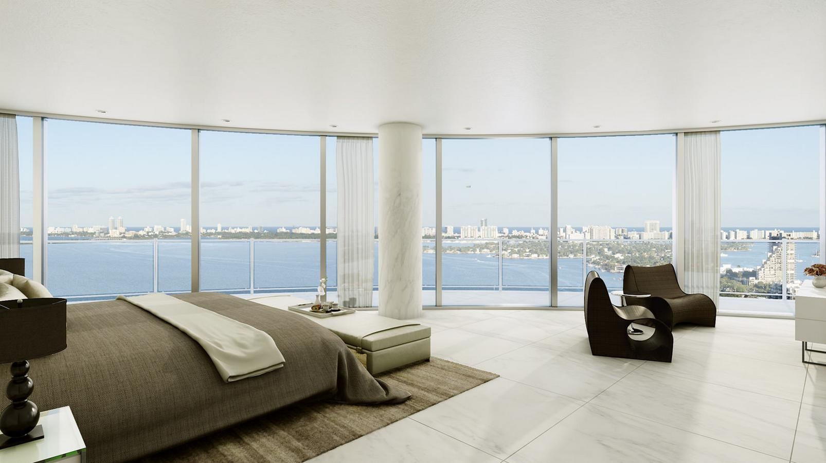 three bedroom plus den suite overlooking miami s biscayne bay