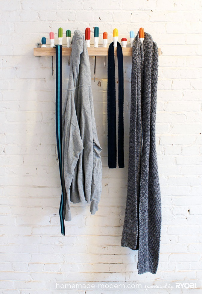 screw driver coat rack