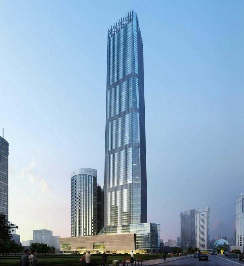 Dalian International Trade Center rendering (2)