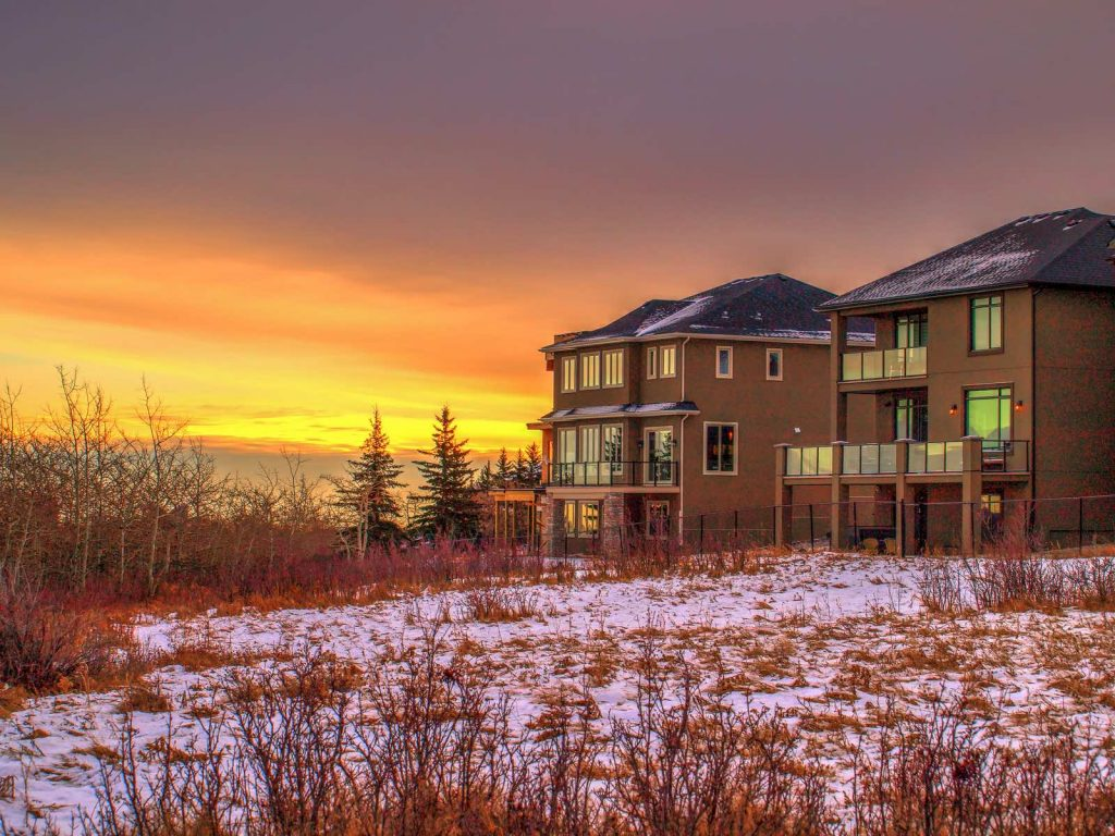 calgary-homes-sunset