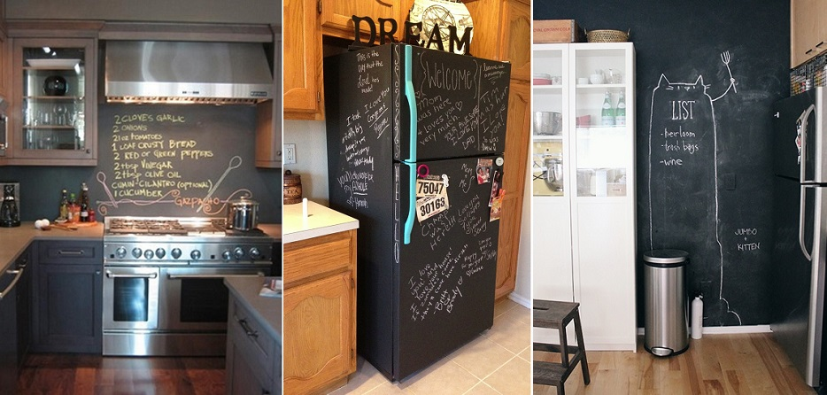 kitchen chalkboard surfaces